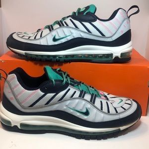NIKE AIR MAX 98 USED SIZE 13 TIDAL WAVE PURE PLA
